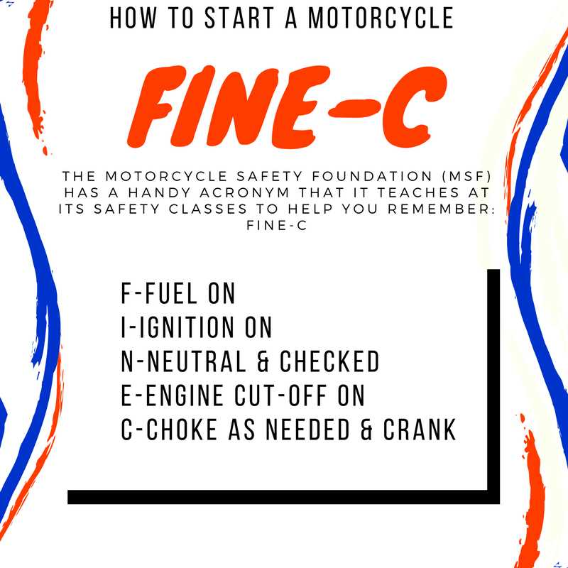 How to start a bike with an electric starter