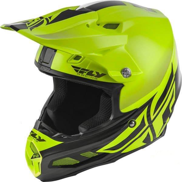 Hi Viz fly racing F2 Helmet