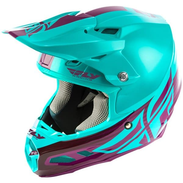 Blue and Purple fly racing F2 Helmet