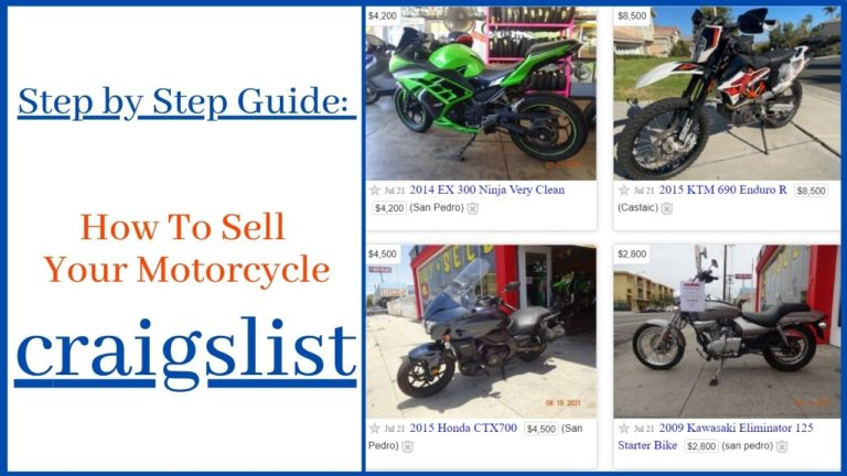 How To Sell A Motorcycle On Craigslist – Step by Step Guide