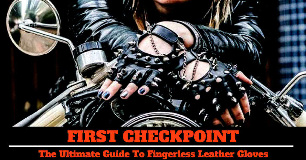 Fingerless Leather for motorcycle riding