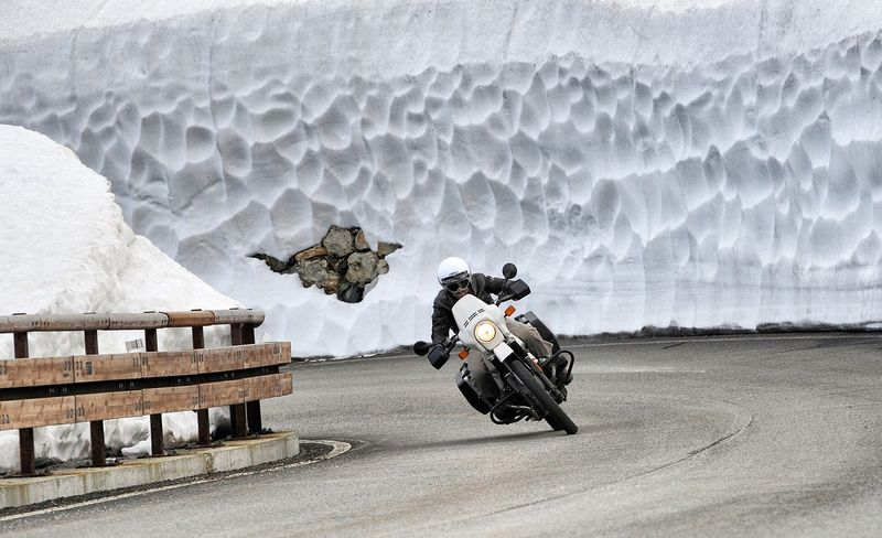 Motorcycle in Ice