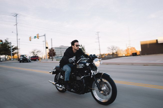 Test ride used motorcycle